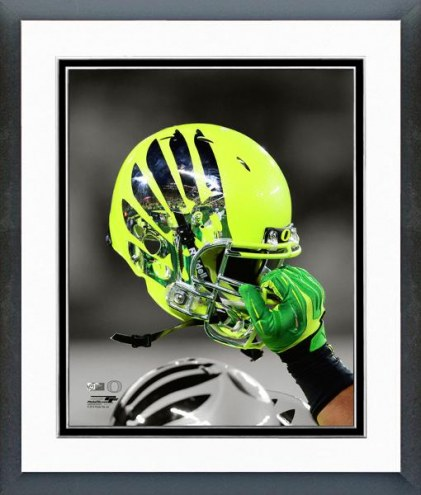 Oregon Ducks Helmet Spotlight Framed Photo