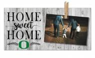 Oregon Ducks Home Sweet Home Clothespin Frame