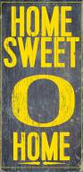Oregon Ducks Home Sweet Home Wood Sign