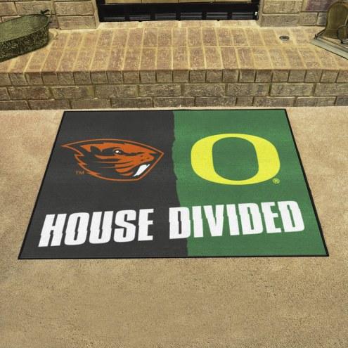 Oregon Ducks/Oregon State Beavers House Divided Mat