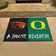 Oregon Ducks/Oregon State Beavers House Divided Mat