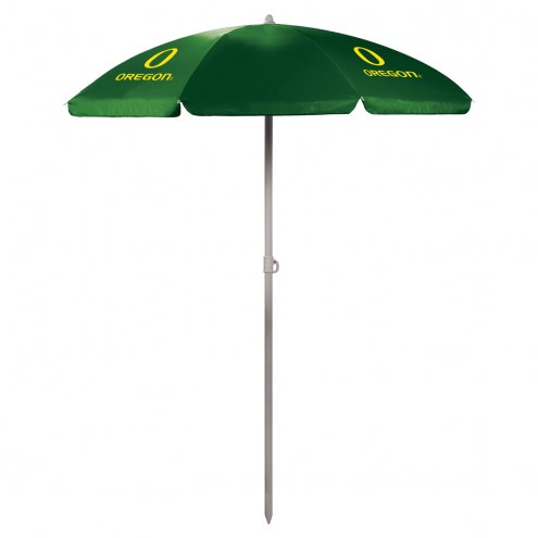 Oregon Ducks Hunter Green Beach Umbrella