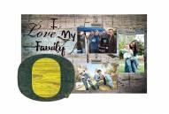 Oregon Ducks I Love My Family Clip Frame
