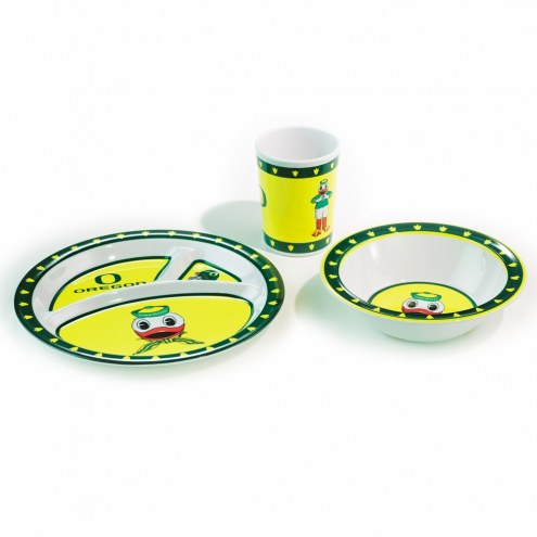 Oregon Ducks Kid's Dish Set