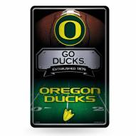 Oregon Ducks Large Embossed Metal Wall Sign