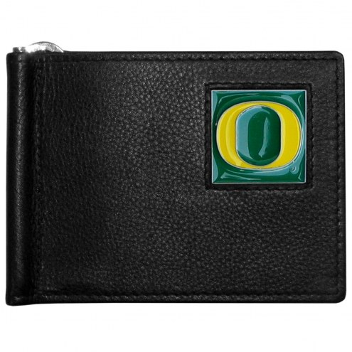 Oregon Ducks Leather Bill Clip Wallet