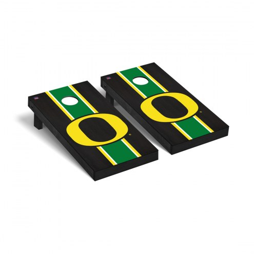 Oregon Ducks Onyx Stained Cornhole Game Set