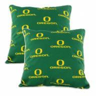 Oregon Ducks Outdoor Decorative Pillow Set
