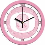 Oregon Ducks Pink Wall Clock