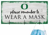 Oregon Ducks Please Wear Your Mask Sign