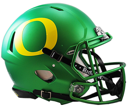 Oregon Ducks Riddell Speed Full Size Authentic Apple Green Football Helmet