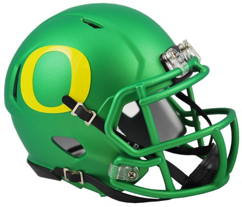Oregon Ducks Riddell Speed Mini Collectible Apple Green Football Helmet