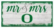 Oregon Ducks Script Mr. & Mrs. Sign