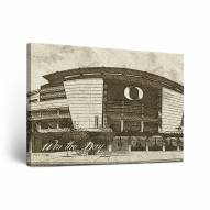 Oregon Ducks Sketch Canvas Wall Art