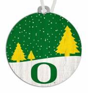 Oregon Ducks Snow Scene Ornament
