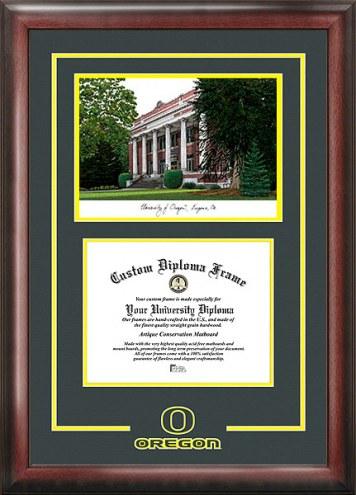 Oregon Ducks Spirit Diploma Frame with Campus Image