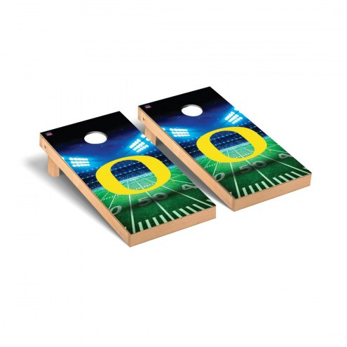 Oregon Ducks Stadium Cornhole Game Set