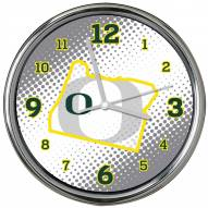 Oregon Ducks State of Mind Chrome Clock