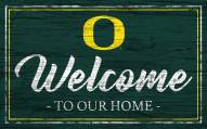 Oregon Ducks Team Color Welcome Sign