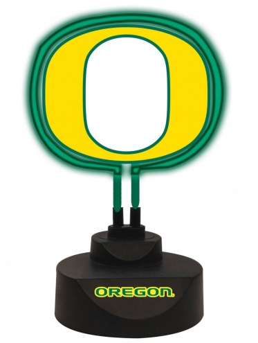 Oregon Ducks Team Logo Neon Light