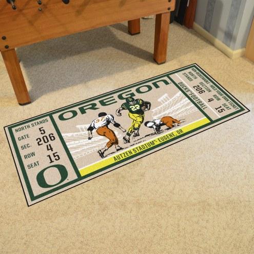 Oregon Ducks Ticket Runner Rug