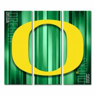 Oregon Ducks Triptych Rush Canvas Wall Art