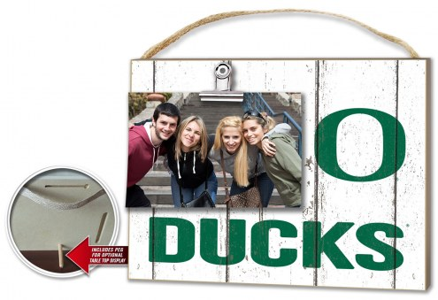 Oregon Ducks Weathered Logo Photo Frame