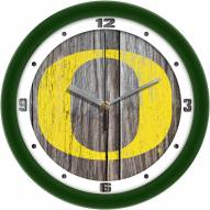 Oregon Ducks Weathered Wall Clock