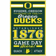 Oregon Ducks Established Wood Sign