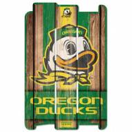 Oregon Ducks Wood Fence Sign