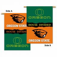 Oregon/Oregon State 2-Sided House Divided Banner