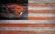 "Oregon State Beavers 11"" x 19"" Distressed Flag Sign"