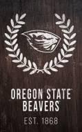 "Oregon State Beavers 11"" x 19"" Laurel Wreath Sign"