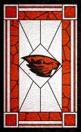 """Oregon State Beavers 11"""" x 19"""" Stained Glass Sign"""