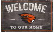 """Oregon State Beavers 11"""" x 19"""" Welcome to Our Home Sign"""