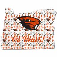 """Oregon State Beavers 12"""" Floral State Sign"""