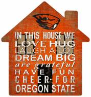 "Oregon State Beavers 12"" House Sign"