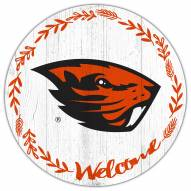 """Oregon State Beavers 12"""" Welcome Circle Sign"""