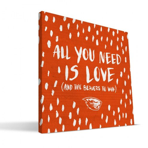 "Oregon State Beavers 12"" x 12"" All You Need Canvas Print"