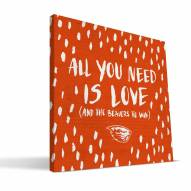 """Oregon State Beavers 12"""" x 12"""" All You Need Canvas Print"""