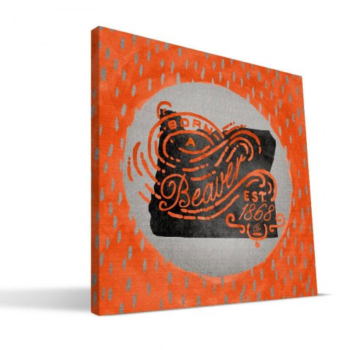 "Oregon State Beavers 12"" x 12"" Born a Fan Canvas Print"