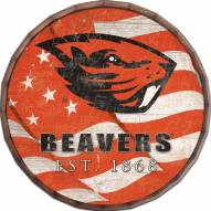 "Oregon State Beavers 16"" Flag Barrel Top"