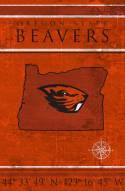 "Oregon State Beavers 17"" x 26"" Coordinates Sign"