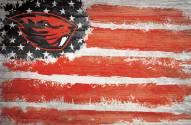 "Oregon State Beavers 17"" x 26"" Flag Sign"