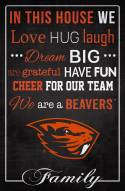 """Oregon State Beavers 17"""" x 26"""" In This House Sign"""