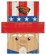 "Oregon State Beavers 19"" x 16"" Patriotic Head"