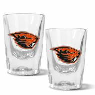 Oregon State Beavers 2 oz. Prism Shot Glass Set