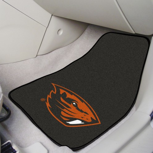 Oregon State Beavers 2-Piece Carpet Car Mats