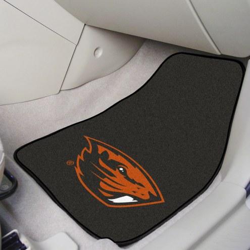 Oregon State Beavers 2-Piece Carpet Car Mats