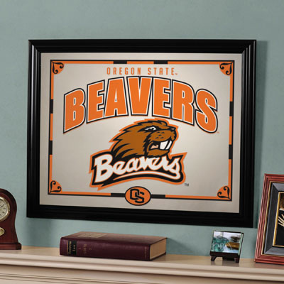 "Oregon State Beavers 23"" x 18"" Mirror"